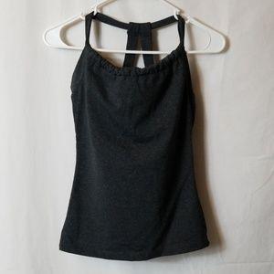 Prana Quinn Workout Yoga Tank Top Sz S Grey